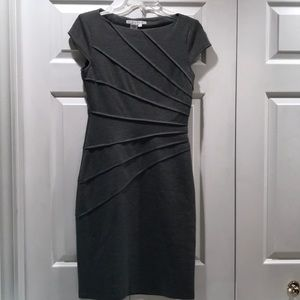 Maggy London Heather Gray Starburst Dress